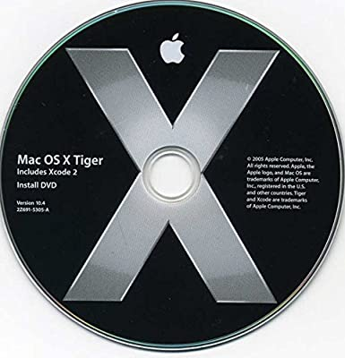 OS X 10 4 Tiger  Full, retail install DVD  Plus Techtool