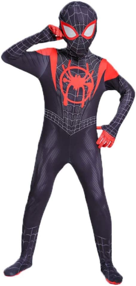 Traje de Spiderman Cosplay Niño Adulto Little Black Spider Anime ...