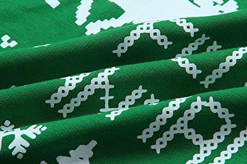 Bambi manga la larga de de Scothen de de las Navidad del de oscilación nieve copos suéter los mujeres Navidad la de Traje de reno reno Verde de retro suéter Santa la del el pared de con Traje la del jersey xxqpSgF