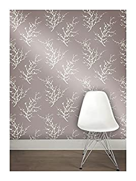 Tempaper Cherry Blossom Removable Wallpaper Champagne Taupe Amazoncouk Kitchen Home