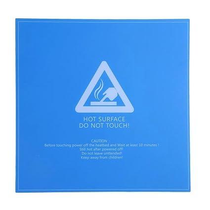 Asiright - Adhesivo para impresora 3D, diseño cuadrado, color azul ...