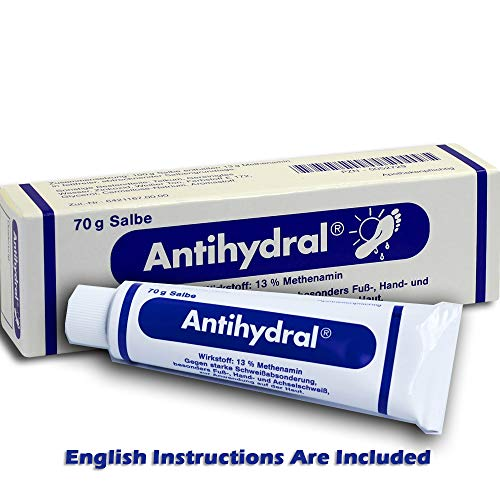 - Antihydral Cream 70g Natural Treatment of Hyperhidrosis Excessive Sweating for Climbers
