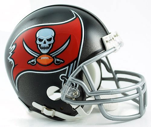 NFL Tampa Bay Buccaneers Replica Mini Helmet (New 2014 Logo) - Riddell Nfl Replica Mini Helmet