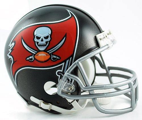 NFL Tampa Bay Buccaneers Replica Mini Helmet (New 2014 Logo) (Tampa Replica Bay Football Helmet Buccaneers)