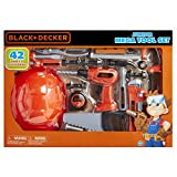 BLACK+DECKER Junior Kids Tool Set - Mega Tool Set with 42 Tools & Accessories! Role Play Tools for Toddlers Boys & Girls Ages 3 Years Old and Above, Includes Helmet!