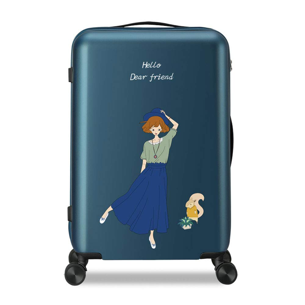 Small Fresh Fashion Large Capacity Universal Wheel Waterproof Scratch Student Cute Luggage Polyester//PC 3 Colors MING REN Luggage Sets Trolley Case Honeycomb Grain Pattern TSA Custom Code Lock