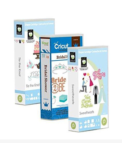 Cricut Cartridge Bundle: Tie the Knot, Bridal Shower & Sweethearts cartridges