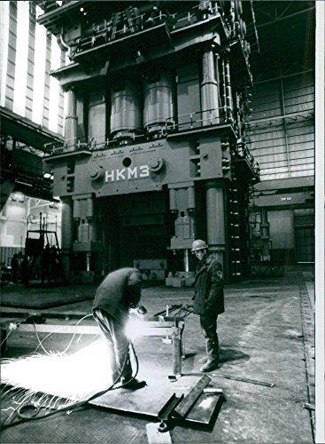 Soviet Press - Vintage photo of France39;s giant Soviet Press, 1979.
