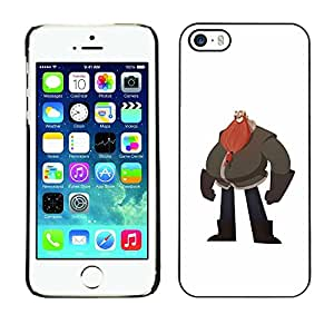 LECELL--Funda protectora / Cubierta / Piel For Apple iPhone 5 / 5S -- Big Man Belly Red Beard Drawing Art --