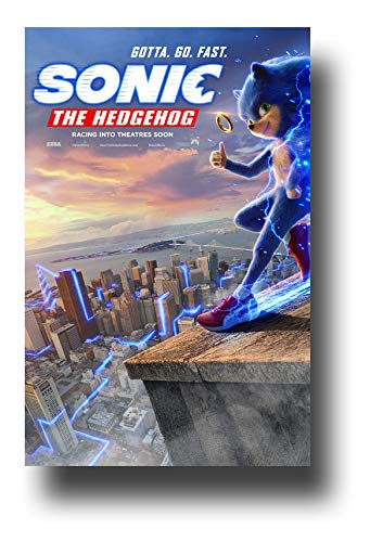 Sonic The Hedgehog Poster Movie Promo 11 X 17 Inches Gotta Go Fast Roof Amazon In Home Kitchen