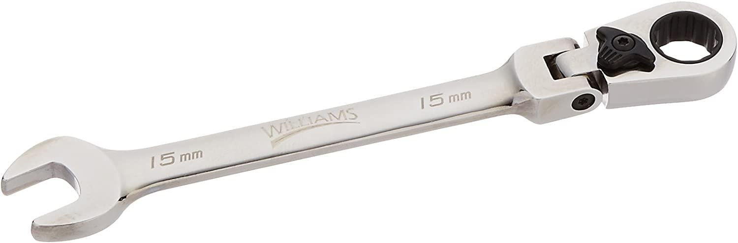 Williams 1214MRCF 14mm Flex Head Reversible Ratcheting Comb Wrench 12 Point