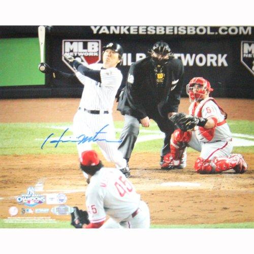 (MLB New York Yankees Hideki Matsui 2009 WS Home Run Horizontal Photograph, 8x10-Inch )