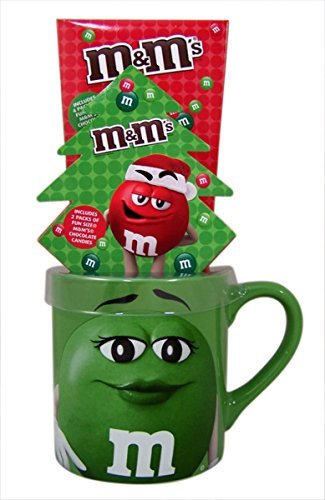 M&M's Ceramic Christmas Coffee Mug Gift Set with Chocolate for sale  Delivered anywhere in USA