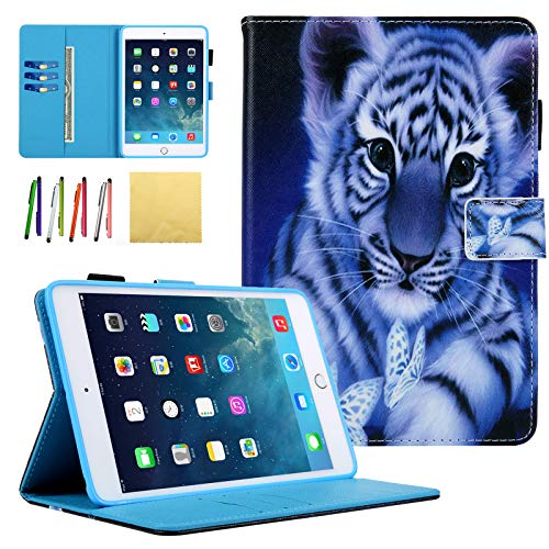 iPad Mini 1 2 3 4 Universal Kiddie Case, Coopts PU Leather Stand Smart Case Cover with Card Slots & Auto Sleep Wake Function for 7.9-inch Apple iPad Mini 1, -