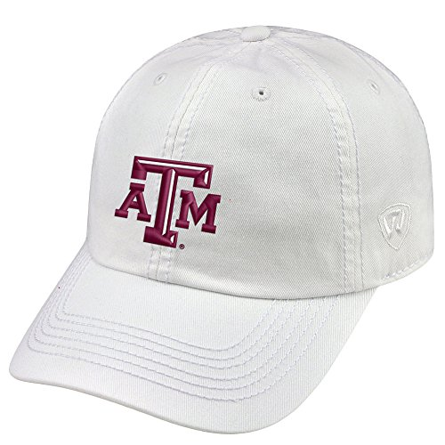 Texas A&m Aggies Sport Hat - Top of the World Texas A&M Aggies Men's Hat Icon, White, Adjustable