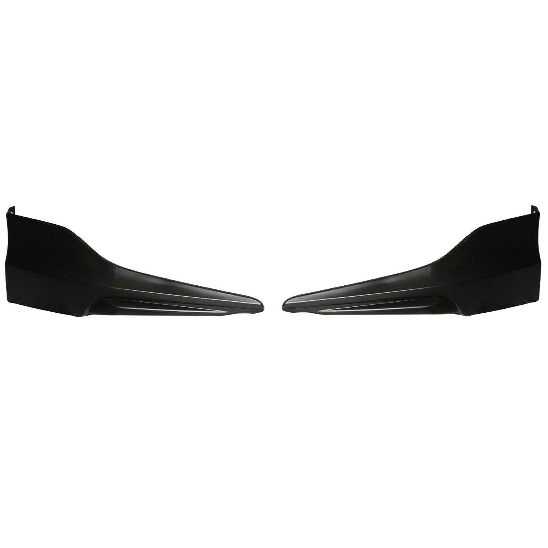 2PC HFP Style Front Bumper Lip Underbody Spoiler Splitter for 2016-2017 Honda Accord 4 Door