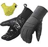 Ranger Gloves with Removable Kelvar Lining: Real-world Military Tactical Use for Men and Women, Leather Palm, Outdoor Sports Riding, Cycle, Hunting and More in Winter