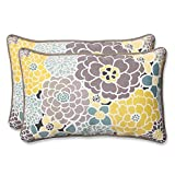 Pillow Perfect Outdoor Full Bloom Rectangular Throw Pillow, Set of 2
