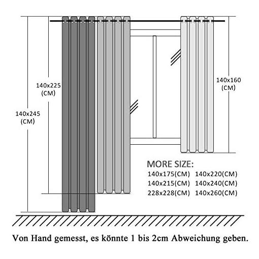 Top Finel Trasparenti Tende per Case Cameretta Occhielli,140×245 CM,2 pezzi,Bianca