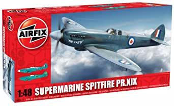 Airfix Supermarine Spitfire PRXIX Airplane Building Kit, 1:48 Scale