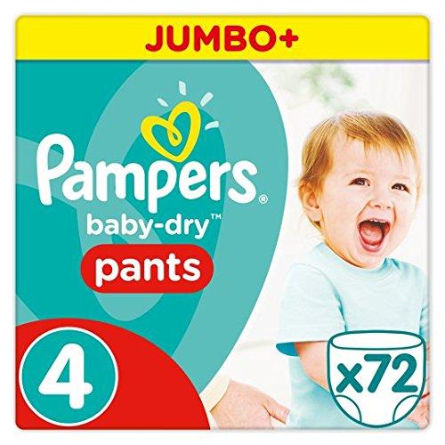 Pampers beb/é seco pantalones talla 4/Jumbo Plus Pack 72