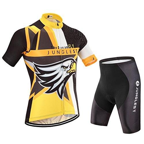仮定、想定。推測隣接するハウジング春夏用 半袖 男性用 サイクルジャージ 上下セット ビブ選択可 自転車ウェア サイクルウェア 品質保証 N37