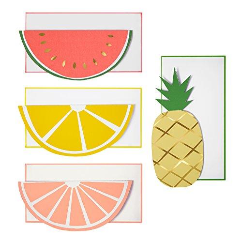 Meri Meri Fruit Note Cards, Set of 12 Cards and 12 Envelopes