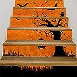 Dergo ☀Stair Stickers , Halloween 3D Sticker Crow Tombstone Staircase Sticker Waterproof Wall Sticker (A)