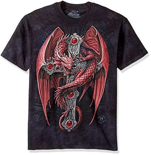 The Mountain Gothic Guard Adult T-Shirt, Black, Large (Smaug Tattoo)