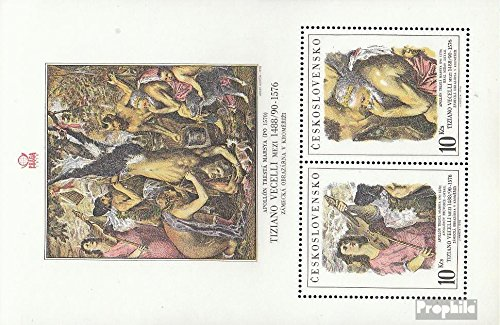 - Czechoslovakia Block37 (Complete.Issue.) 1978 Stamp Exhibition (Stamps for Collectors) Painting