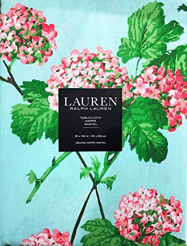 "Ralph Lauren Spring/Summer Hydrangea Blossoms Blooms Tablecloth | 60"" x 84"" | 100% Cotton"