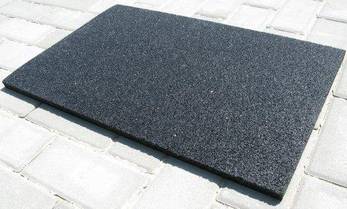 acerto 31149 Antivibrationsmatte - Einbaugeräte 45 cm - Terrassen-Pads - 60x 40x 2 cm - für alle Böden und viele Anwendungsbereiche