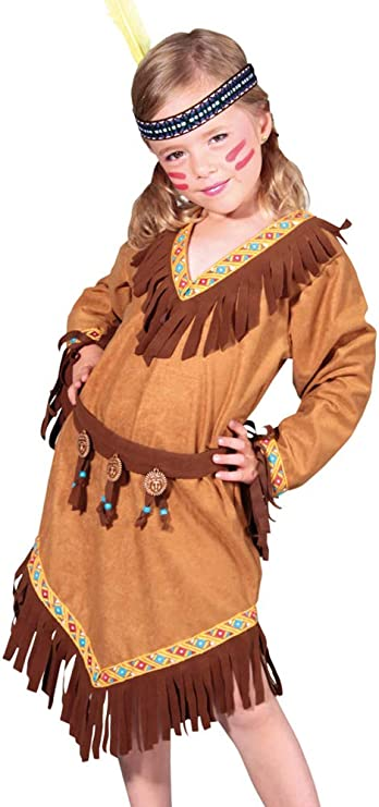 Chaks - Disfraz de India para niña, Talla 128 cm: Amazon.es ...