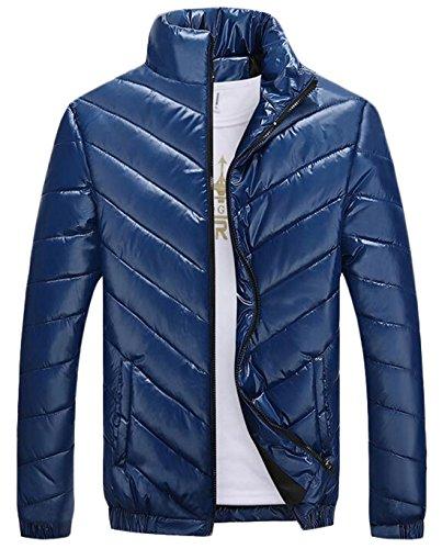 Blu Cappotto Caldo Uomo Ci Piumino Inverno Eku Addensare M Da Outwear E8qx5Fg