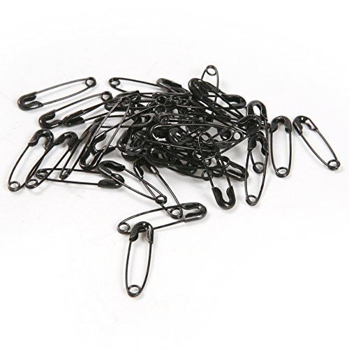 Atoplee 19mm Black Iron Safety Pins Findings Patchwork Quilting Badge DIY Sewing,500 Pics