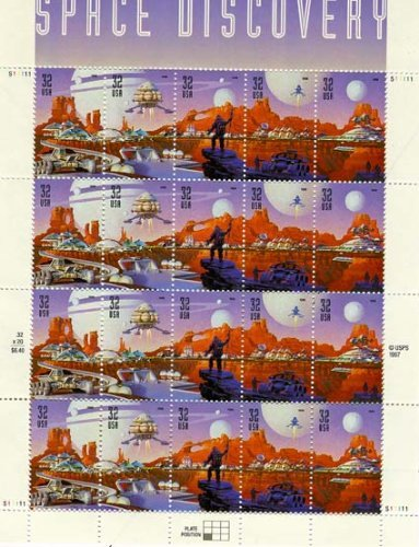 (USPS Space Discovery - Sheet of Twenty 32 Cent Stamps Scott 3238-42)
