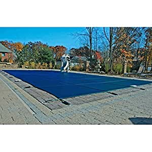 16'x32' Blue Mesh Rectangle Winter Inground Pool Safety Cover - 15 Year Warranty