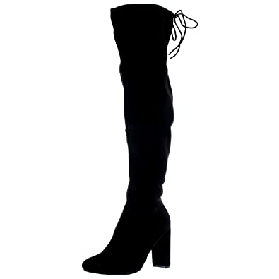 Amazon.com | Womens Wide Fit Stretch Long Thigh High Winter Riding ...