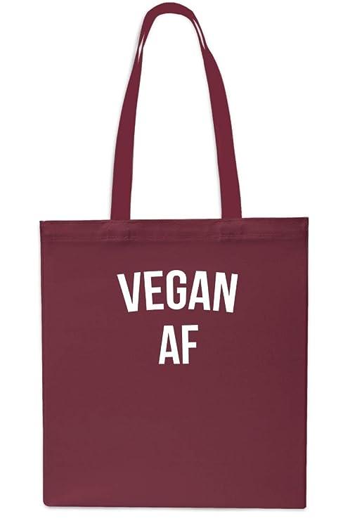 Vegan AF - Bolsa para la playa (42 x 38 cm, 10 L) Maroon ...