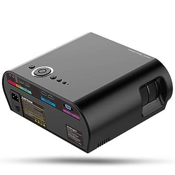 Sannysis Mini Proyector , 3D Cine en casa portátil, Soporte Full ...