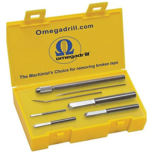 OMEGA 4 PC. BROKEN TAP EXTRACTOR SET INCLUDES 5/64, 1/8, 3/16 & 1/4'' OD-SET1 USA by Omegadrill