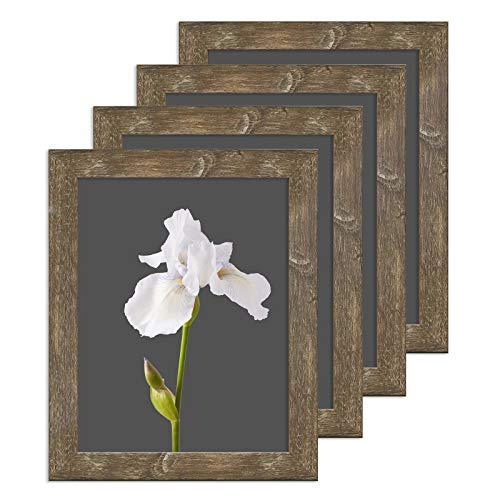 CKCY 5X7 Picture Frames, Rustic Poster Frames 5 x 7, Photo Frame with HD Plexiglass Front and Vintage Brown Frame, 5 by 7 Decorate Hunging Frame for Wall & Table, 4 Pack