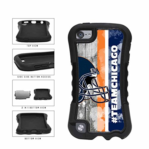 g Team Chicago With Helmet Orange And Blue Dual Layer Phone Case Back Cover Apple iPod Touch 5th Generation (Hybrid Full Face Helmet)