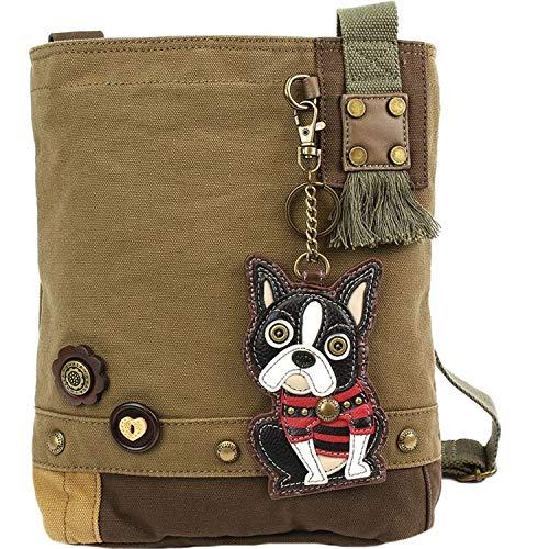 Handbag Crossbody Chala Boston Olive Terrier Patch aOOfpq