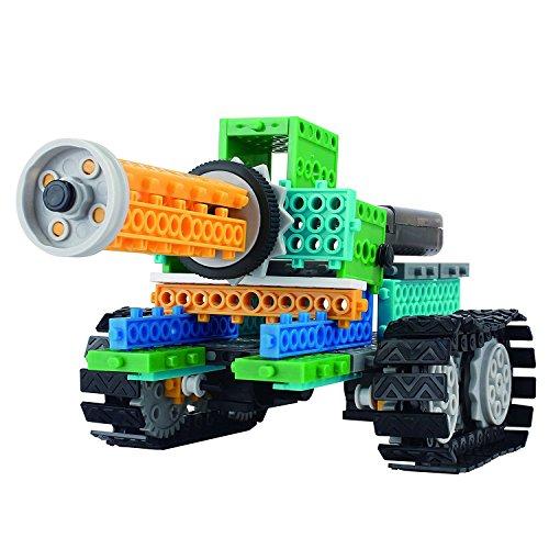 WETECH Robotic Kits, 4 in 1 Robot Vehicle Building Kit, Tank Robotic Kit, Remote Control Blocks, DIY Remote Control Robot, Remote Control Machine, Robot Kit Building Toys For Kids
