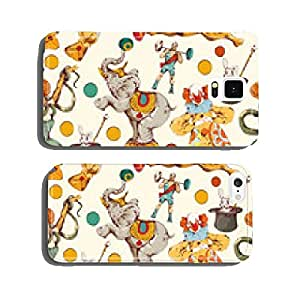 Circus doodle sketch color seamless pattern cell phone cover case Samsung S5