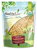 Organic Ground Golden Flaxseed Meal (Cold-Milled, Raw, Non-GMO, Kosher, Bulk) by Food to live - 1 Pound