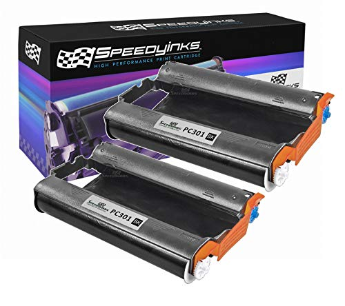 Speedy Inks - 2pk Brother PC301 Compatible Fax Cartridge with - Pc301 Compatible Fax