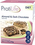 PROTILIFE Pack Of 5 Delicious Almonds and dark Chocolate Protein Diet Bar – Nutritious Low Fat & Carb Snack With High Vitamins & Minerals – Healthy & Energizing Small Meal – Assists In Weight Loss For Sale