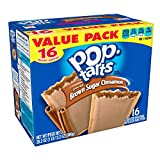 Pop-Tarts Breakfast Toaster Pastries, Frosted Brown Sugar Cinnamon Flavored, Value Pack, 28.2 oz (16 Count)(Pack of 8)